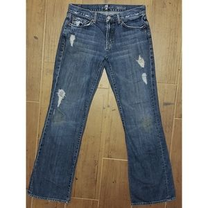 7 for all Mankind Distressed Bootcut Jeans 31 x 32